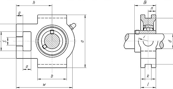 Mounted bearing unit uct200 and uct300 series take-up unit