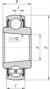 Radial insert ball bearings uk200 and uk300 series