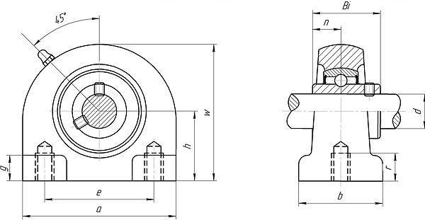 Mounted bearing unit ucpa200 series pillow block
