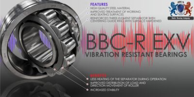 Vibration resistant bearings EXV-series
